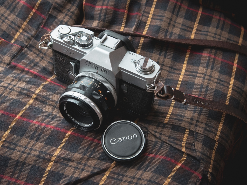 Canon FT QL with metal lens hood