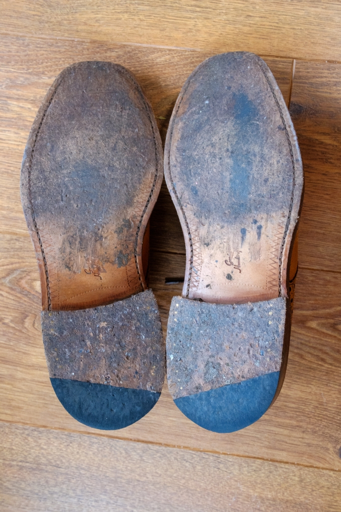 Patina on leather sole
